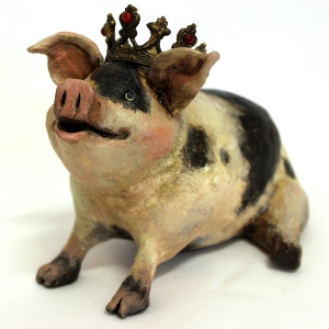 French Pig Paper Sculpture