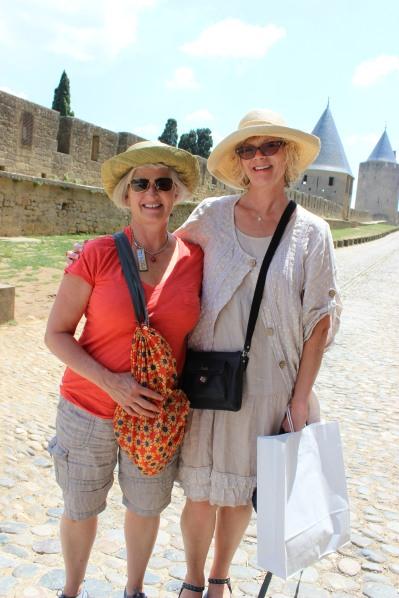 Janet & Keli in Carcassonne